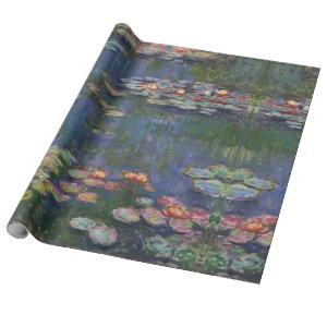 Claude Monet Water Lilies 1916 Fine Art Wrapping Paper