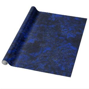 Cobalt blue wrapping paper