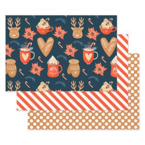 Cocoa And Cookies Pattern Cute Holiday Christmas  Sheets