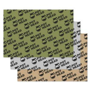 Coffee Pot Head - simple drawing Wrapping Paper Sheets