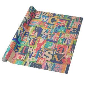 Collage Wrapping or Decoupage Paper