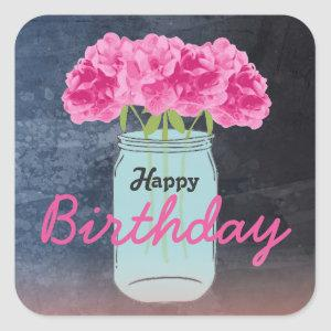 Color me Pink Birthday Bouquet Stickers