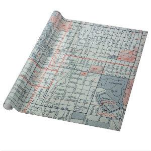 COLORADO SPRINGS Vintage Map Wrapping Paper