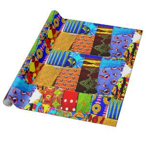 Colorful African Fabric Print Wrapping Paper