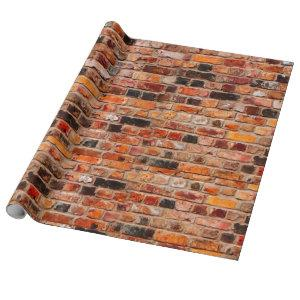 Colorful Brick Wall Texture Wrapping Paper