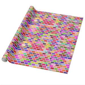 Colorful Bricks Wall Wrapping Paper