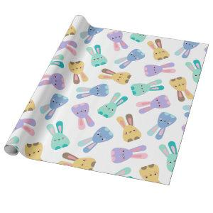 Colorful Bunny Pattern Wrapping Paper