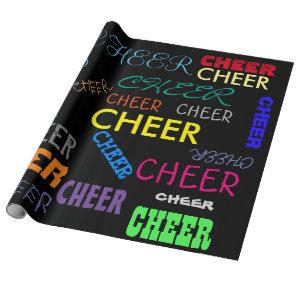 Colorful Cheer Personalized Wrapping Paper