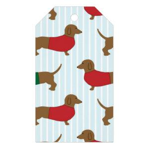 Colorful Dachshund Dogs Gift Tags