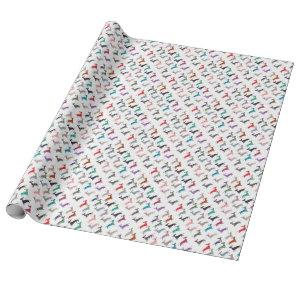Colorful Dachshund! Wrapping Paper