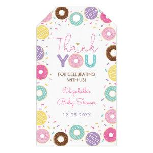 Colorful Donut Donut Sprinkles Thank You Gift Tags