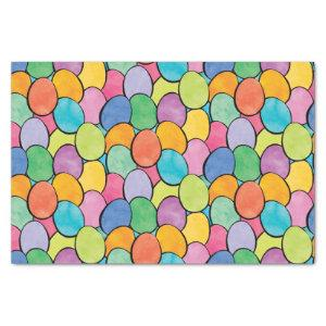 Colorful Easter Eggs Tissue Paper