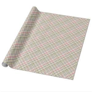 Colorful Elegant Pastel Retro Tartan Plaid Pattern Wrapping Paper