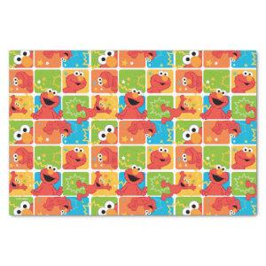 Colorful Elmo Grid Pattern Tissue Paper