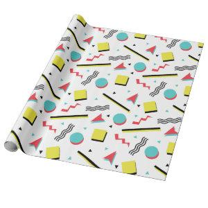 Colorful Fun Memphis Pattern Wrapping Paper