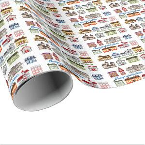 Colorful House Warming Wrapping Paper