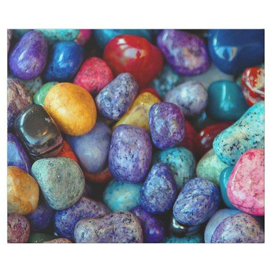 Colorful marble pebbles wrapping paper