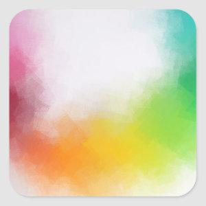 Colorful Modern Abstract Art Blank Template Trendy Square Sticker