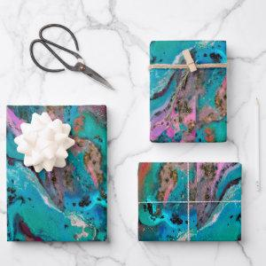 Colorful Modern Abstract Fluid Art Painting  Sheets