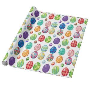 Colorful Modern Easter Eggs Pattern | Holidays Wrapping Paper