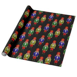 Colorful Nutcrackers Tiled Pattern Wrapping Paper