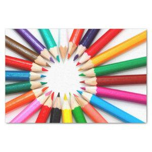 Colorful Pencils Tissue Paper