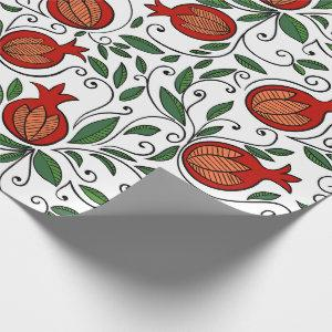 Colorful  pomegranate gift wrapping paper