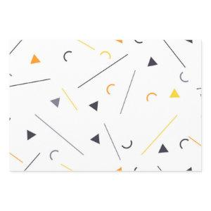 Colorful, simple, trendy, urban geometric design wrapping paper sheets