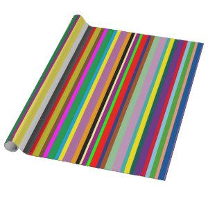 Colourful stripes. wrapping paper