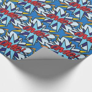 Comic Book Pop Art OMG Wrapping Paper