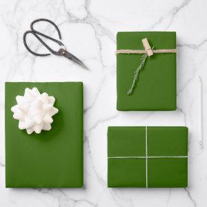 Conifer Green Wrapping Paper Sheets