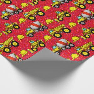 Construction Site Wrapping Paper