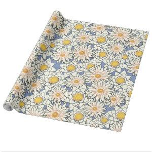 Contemporary Art Floral Motif Wrapping Paper