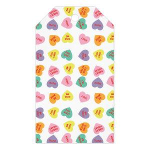 Conversation Candy Hearts Gift Tag