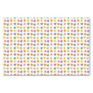 Conversation Candy Hearts Tissue Paper