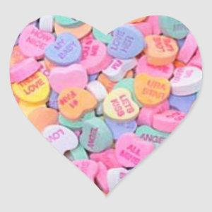 Conversation Hearts Heart Sticker