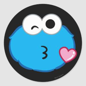 Cookie Face Throwing a Kiss Classic Round Sticker