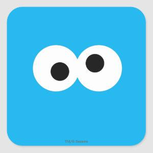 Cookie Monster Big Face Square Sticker