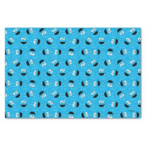 Cookie Monster Fur Face Pattern Tissue Paper