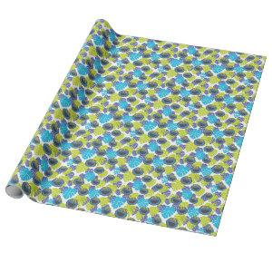 Cookie Monster | Tropical Pattern Wrapping Paper