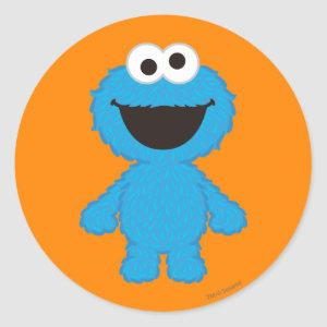 Cookie Monster Wool Style Classic Round Sticker