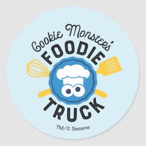 Cookie Monster's Foodie Truck Logo Classic Round Sticker