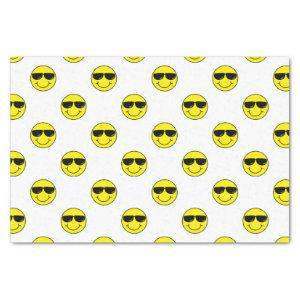 Cool Emoji Face with Sunglasses Tissue Paper