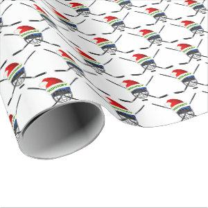 Cool Hockey Christmas Wrapping Paper or YOUR Image
