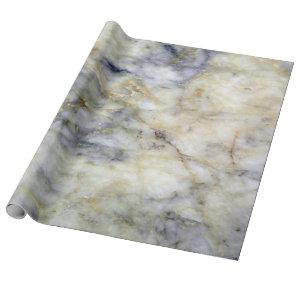 Cool Modern Blue Marble Stone Texture Wrapping Paper