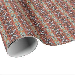 Cool Native American Indian Tribal Mosaic Pattern Wrapping Paper