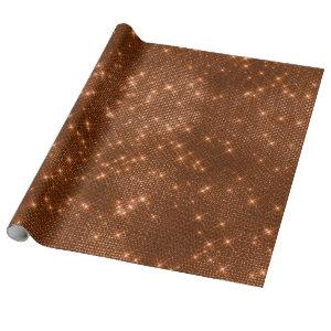 Copper Sparkly Metallic Grill Urban Abstract Wrapping Paper