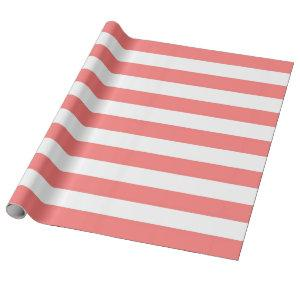 Coral Stripe Wrapping Paper