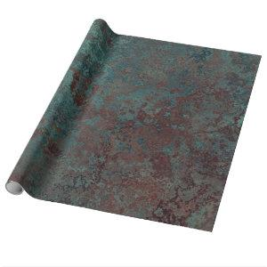 "Corrosion "" Copper"" print wrapping paper"