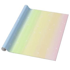 Cosmic Pastel Rainbow Wrapping Paper